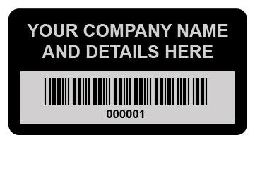 custom made asset labels tags printed to your designs